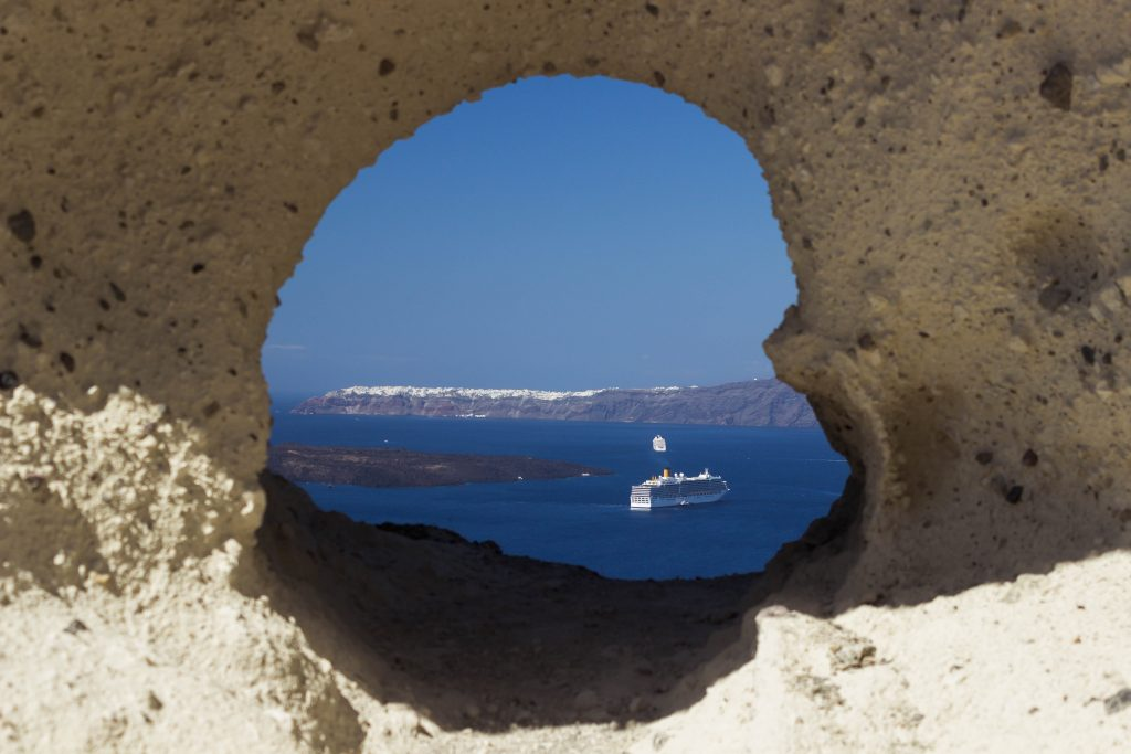 The heart of Santorini
